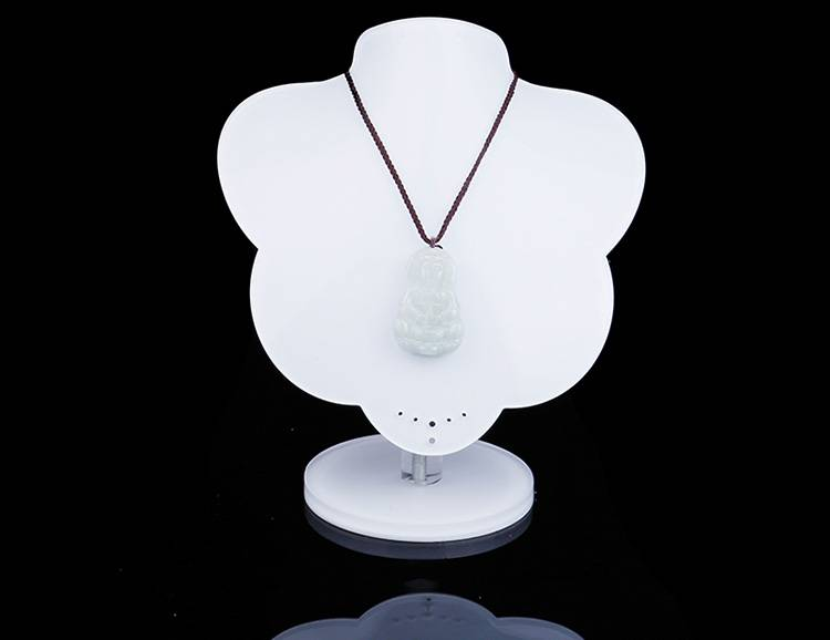White Acrylic Jewelry Display Stands Necklace Holder for Shows Exhibition Store Fair XH0054-3