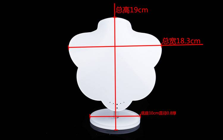 White Acrylic Jewelry Display Stands Necklace Holder for Shows Exhibition Store Fair XH0054-6