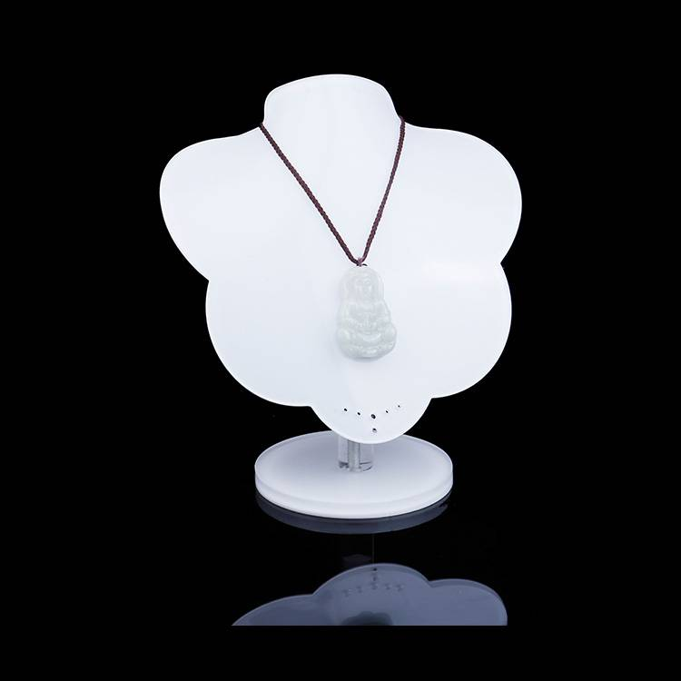 White Acrylic Jewelry Display Stands Necklace Holder for Shows Exhibition Store Fair