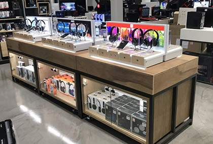 in-store headsets displays
