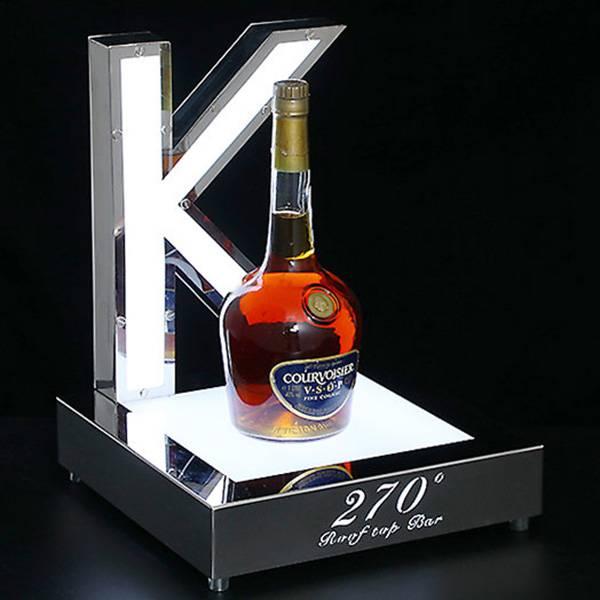 customized bar led acrylic bottle glorifier