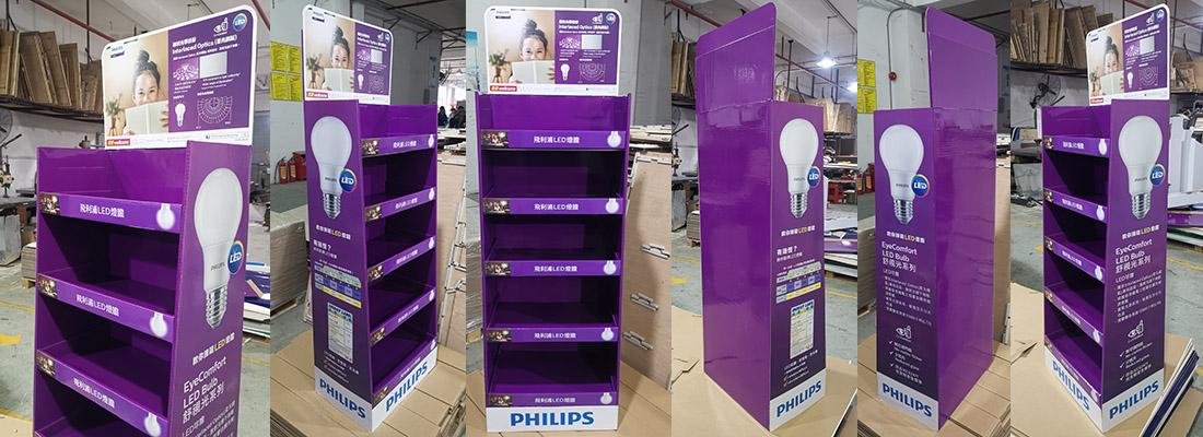 philips led lights cardboard display