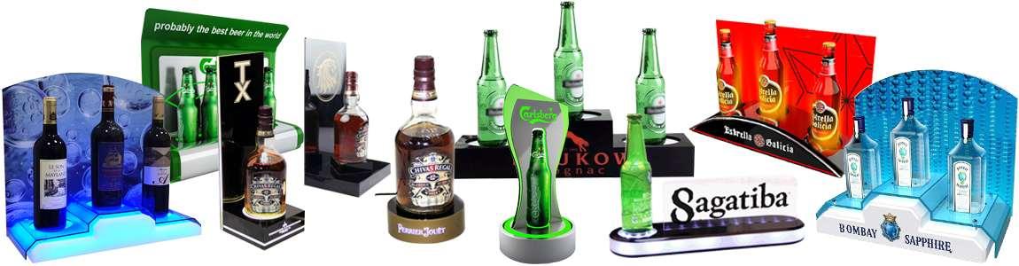 LED Bottle Glorifiers & Back Bar Displays