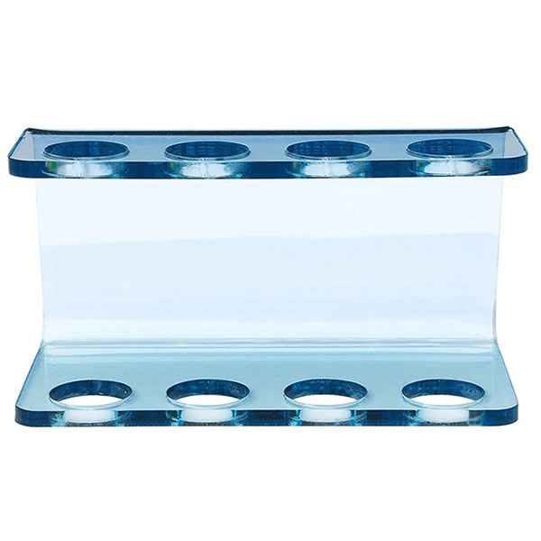 Clear Blue Acrylic Electric Toothbrush Head Holder