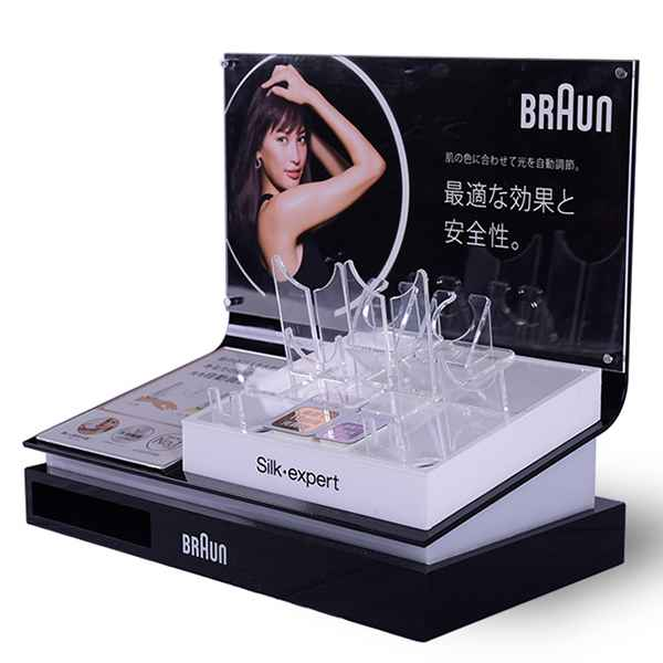 Retail Shop Beauty Instrument Acrylic Display Rack
