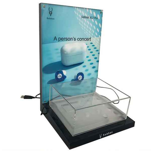 Retail Shop Bluetooth Headset Acrylic Display Rack